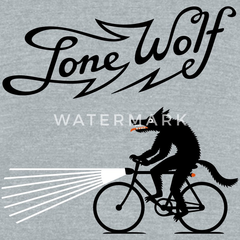 Lone Wolf on bike T-Shirts - Unisex Tri-Blend T-Shirt by American Apparel