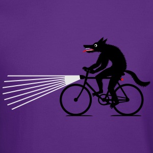 Wolf on bike Kids' Shirts - Crewneck Sweatshirt