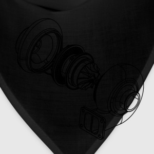 Exploded Turbo Black T-Shirts - Bandana