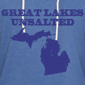 Great Lakes Unsalted Blue Women's T-Shirts - Unisex Lightweight Terry Hoodie