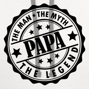 Papa - The Man The Myth The legend T-Shirts - Contrast Hoodie