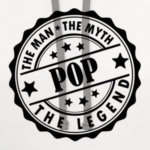 Pop-The Man The Myth The Legend T-Shirts - Contrast Hoodie