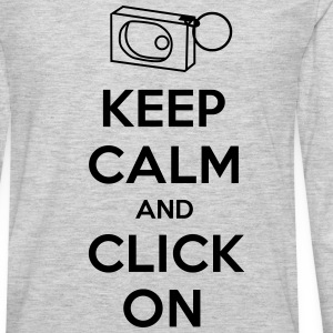 Keep Calm and Click On - Men's Premium Long Sleeve T-Shirt