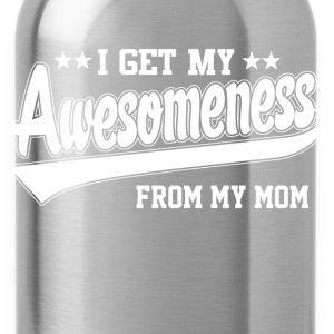 Awesomeness From My Mom Kids' Shirts - Water Bottle