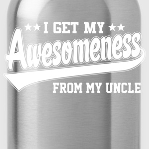 Awesomeness From Uncle Kids' Shirts - Water Bottle