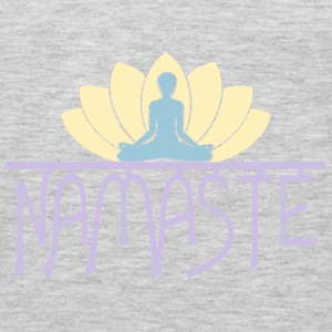 Namaste Yoga Lotus Flower vector design. Tanks - Men's Premium Long Sleeve T-Shirt