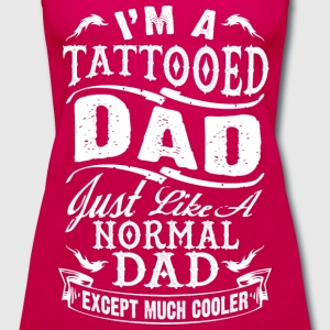 father_day_tattooed_dad tshirt - Women's Premium Tank Top