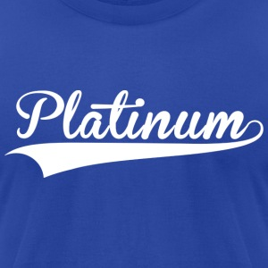 Platinum Blue Steel - Men's T-Shirt by American Apparel