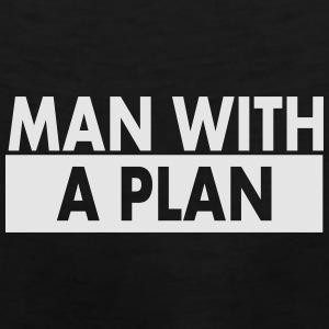 Man with a plan wht Caps - Men's Premium Tank