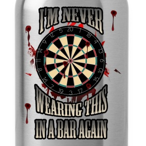Darts T-shirt - Darts in a bar - Water Bottle