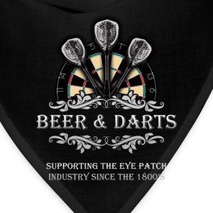 Darts T-shirt - Beer and darts - Bandana