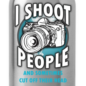 Photography T-shirt - I shoot people - Water Bottle