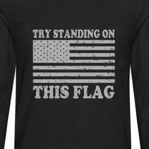 Get off my flag - Men's Premium Long Sleeve T-Shirt