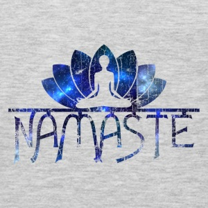 Namaste Vintage Galaxy Cool Slogan T-Shirt Tanks - Men's Premium Long Sleeve T-Shirt