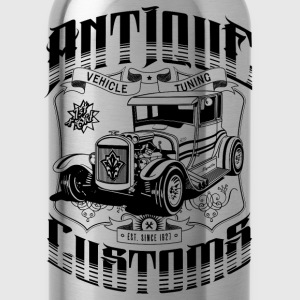 Hot Rod - Antique Customs T-Shirts - Water Bottle