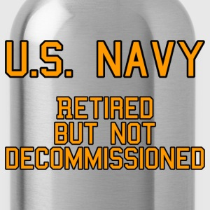 US Navy - Retired T-Shirts - Water Bottle