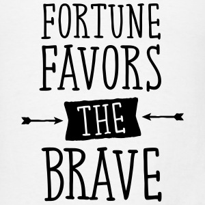 Fortune Favors The Brave Tanks - Men's T-Shirt