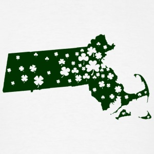 Massachusetts Mass Irish Shamrock Tanks - Men's T-Shirt