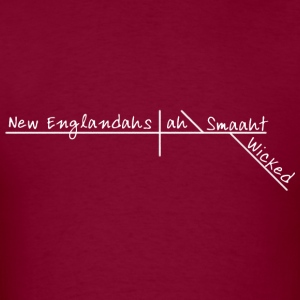 Wicked Smart Smaht Boston Accent  Hoodies - Men's T-Shirt