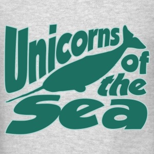 Narwhals are unicorns of the sea - Men's T-Shirt