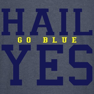 Hail Yes GO BLUE Hoodies - Vintage Sport T-Shirt