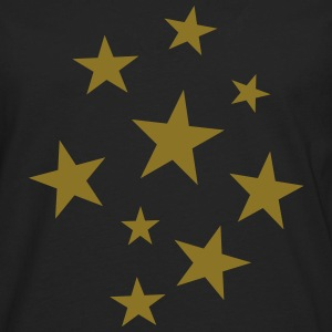 Stars Party T-Shirt (Women Black/Gold) - Men's Premium Long Sleeve T-Shirt