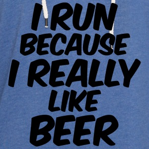 I Run Because I Really Like Beer Tanks - Unisex Lightweight Terry Hoodie