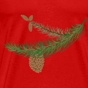 fir branch with cones - Men's Premium T-Shirt