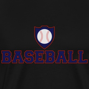 Baseball Shield Hoodies - Men's Premium T-Shirt