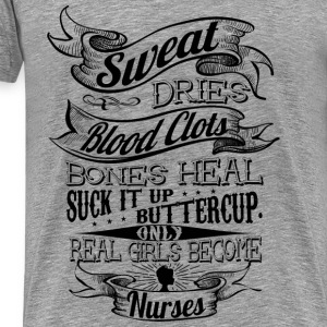 REAL GIRLS BECOME NURSES WOMEN TANKTOP - Men's Premium T-Shirt
