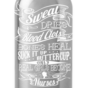 REAL GIRLS BECOME NURSES WOMEN T-SHIRT - Water Bottle