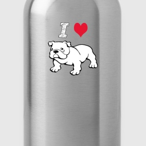 I  Love Bulldog  - Water Bottle