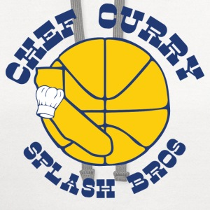 Chef Curry Splash Golden Women's T-Shirts - Contrast Hoodie