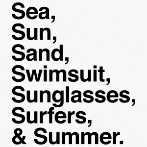 Sea Sun Sand Swimsuit Sunglasses Surfers Summer Caps - Men's Premium Long Sleeve T-Shirt