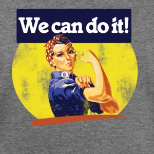 Vintage we can do it rosie riveter - Women's Wideneck Sweatshirt