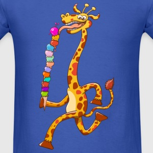 Cool Giraffe Eating Ice Cream Long Sleeve Shirts - Men's T-Shirt