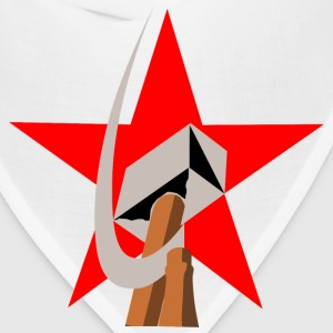hammer and sickle in star - Bandana