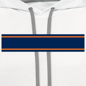 Navy Blue Orange Racing Stripe  - Contrast Hoodie