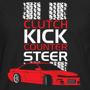 Clutch Kick Drift-white - Men's Premium Long Sleeve T-Shirt