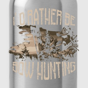 Bow hunting T-Shirt - I'd rather be bow hunting - Water Bottle