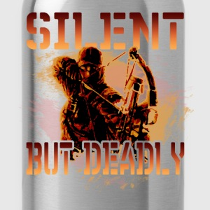Bow hunting T-Shirt - Silent but deadly - Water Bottle
