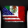Vintage Mexican American Flag. - Men's T-Shirt