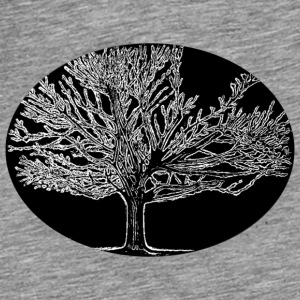 Beautiful Winter Oak Tree - Men's Premium T-Shirt