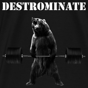 Weightlifting Bear - Destronimate - Men's Premium T-Shirt