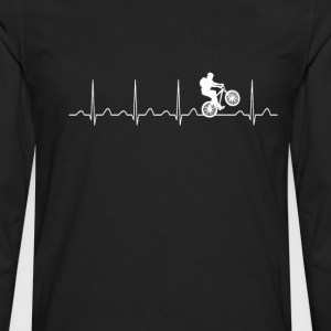 Mountainbike Heartbeat - Men's Premium Long Sleeve T-Shirt