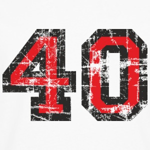 Number 40 Birthday T-Shirt (Men Black/Red) Vintage - Men's Premium Long Sleeve T-Shirt