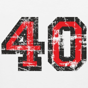 Number 40 Birthday T-Shirt (Women Black/Red) Vinta - Men's Premium Tank