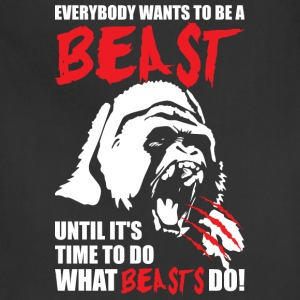 Bodybuilding - Everybody Wants To Be A Beast - Adjustable Apron