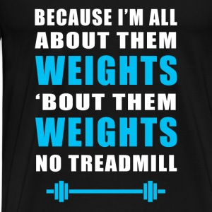 Funny Gym Weights Fitness - Men's Premium T-Shirt