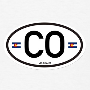Colorado Euro-Oval  - Men's T-Shirt
